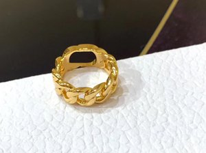 Luxurys designers ring Fashion gold letter band rings bague for lady women Party wedding lovers gift engagement jewelry high quality good