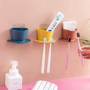 Toothbrush Holders Bathroom Accessories Disc Multicard Slot Holder Rack Organizer Hanging Set Storage Wall-mounted