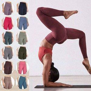 LU-32 Lu Bayan Tayt Yoga Takım Elbise Pantolon Yüksek Bel Spor Yükseltme Kalça Spor Giyim Legging Elastik Fitness Tayt Egzersiz Hizalama HYBA #