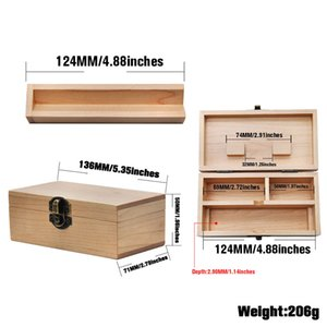 Wooden Pipe Grinder Gift Box Cigarette Cases Clamshell Square Smoking Set Storage Boxes Portable Giftes Packaging GWB8231