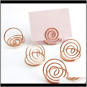 Filing Products Supplies Office School Business & Industrial Drop Delivery 2021 24 Pcs Table Number Holders Ring Shape Card Holder Circle Ste