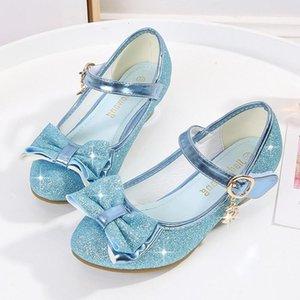 Glitter Children Princess Shoes for Girls Sandals High Heel Pink Latin Dance Shoes Shiny Rhinestone Female Party Dress1