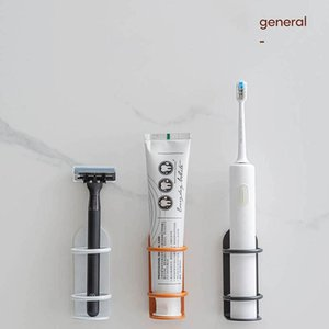 Toothbrush Holders Wall-mounted Holder Electric Razor Storage Shelf Bathroom Accessories Punch-free