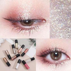 Eye Shadow Shiny Waterproof Liquid Eyeshadow Metallic Monochrome EyeLiner Pen Cosmetics Beauty Party Makeup Tools