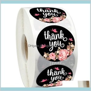 Adhesive Stickers Tapes & Office School Supplies Business Industrial 1000Pcs Printed Flowers Thank You Labels 1Inch Envelope Seal Pack
