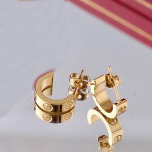 New Designer Earrings Womens Carti Stud Big Circle Simple Earring Hoop cleef for Woman van High Quality with box z12