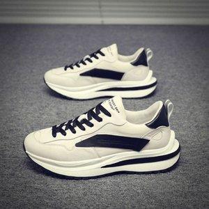 Chaussures décontractées Automne et hiver 2020 Nouveau loisir coréen Semelles épaisses Augmentez les chaussures supérieures de sport polyvalentes de tendance 0N3V