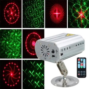 Effects Mini 24Patterns R&G Laser Projector Lighting Led Stage Light Christmas Decoration Disco DJ Club KTV Bar Family Party Show