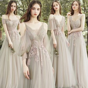Spring Sisters Temperament Women Group Best Friend Bridesmaid Dress Slim Banquet Evening