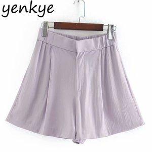 Vintage Solid Flowy Shorts Women High Waist Casual Short Femme pantalones cortos de mujer Summer spodenki damskie CCWM9706 210514