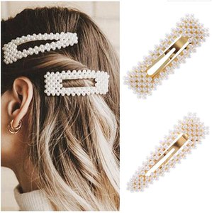 accessories Fashion Pearl Clip for Women Elegant Korean Design Snap Barrette Stick Hairpin Hair Styling Pins
