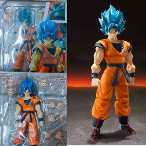 Shf Son Goku Blue Super Blue Gokou Active цифры Модель Игрушечный подарок для Рождества R0327