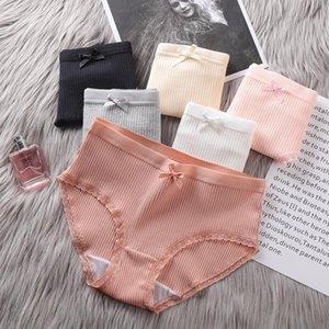Women's Panties Underwear Woman Sexy Letter Cotton M-XL Briefs Intimates Lingerie 6 Solid Color Pantys Femme Panty 3pcs
