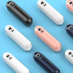 Pocket Handheld Fan USB Gadgets Mini Portable Hand Multi Functional Rechargeable Foldable Quiet Personal Girl Power Bank Flashlight for Indoor Outdoor