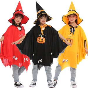 Halloween children's new witch role-playing perforce pumpkin Suit Hat cloak suit
