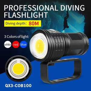50000lm Diving Pography LED Torch Underwater Lamp 80m IPX8 Waterproof Strong Flash Light For Hunting #4 Lights