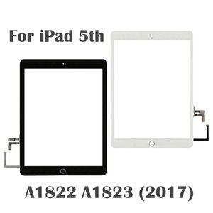 10 pçs / lote Novo 2017 Ano A1822 A1823 Tela de toque para iPad 5 5th geração digitador externo painel lcd vidro frontal com adesivo com casa