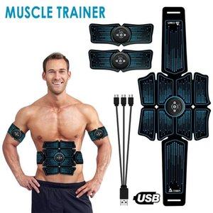Slimming Fat Burning Exerciser Electric Muscle Training Smart Fitness Stimulator Abdominal Tool Equipment