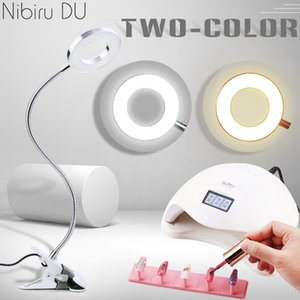 Nail Clip-on Desk USB Flexible Bendable Table Lamp Eye Protection LED Two Colors Light Manicure Nails Art Beauty Tools