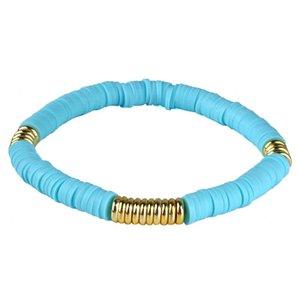 Women Rubber Beaded Bracelets Fashion Special Tropical Beach Bracelet Gift Women Jewelry Slipknot dff0631
