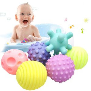 Soft glue multi-texture baby hand ball toy 3-6-12 months babys learn to crawl puzzle tactile sensory massage