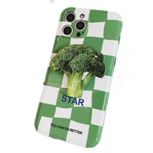 Checkerboard Iphone Cases 12 11ProMax apple broccoli stand mobile phone shell xs xr protective cover 8p BY DHL