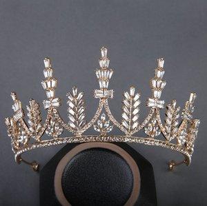 Bridal headdress 2021 golden diamond crown hairband fashion accessories 033017
