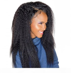 Peruvian Human Hair 360 Lace Frontal Wig with Baby Hair Kinky Straight 360 Wigs Natural Hairline 8-24 inch
