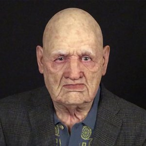 An Scary Coslpy Halloween Full Head Latex Funny Supersoft Old Man Adult Mask Creepy Party Real Masks