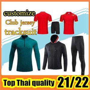 Customize 2021-2022 Мужчины и детские спортивные комплекты для куртки рубашки + носки поло