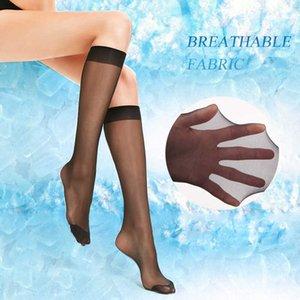 3 4Pair Women Sexy Knee High Socks Thin Mesh Nylon Stockings Hosiery Summer Fashion Girls Ladies Transparent Over Knee Socks Q0708