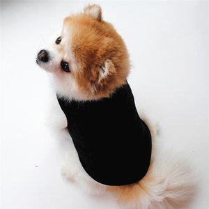 Soft Clothes Fashion T Shirt Black White Dog Vest Cute Pet Supplies Yorkshire Terrier Comfortable Thin Section SMZ5P