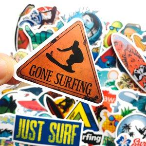 50Pcs Summer Surfing Stickers Non-random Car Bike Luggage Sticker Laptop Skateboard Motor Water Bottle Snowboard wall Decal Kids Gifts