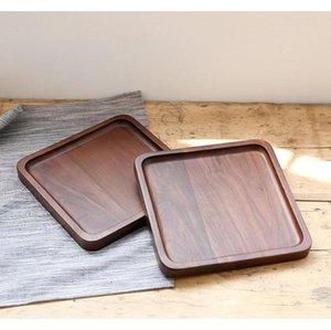 Dinnerware Kitchen, Dining Bar Home & Garden Drop Delivery 2021 Black Walnut Square Fruit Snack Bread Plates Eco Friendly Food Dinner Dishes