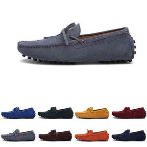 남성 캐주얼 신발 Espadrilles 트리플 블랙 네이비 브라운 와인 레드 그린 카키 오렌지 망 운동화 야외 조깅 걷는 11