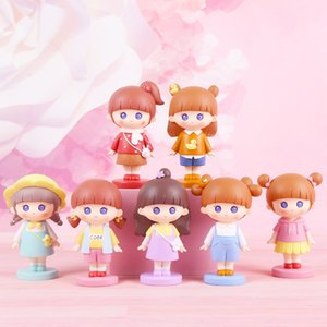 Cartoon cute girl creative animal blind box handmade doll cake decoration car ornament girl187R Collect