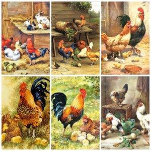 Алмазная живопись Huacan DIY 5D цыпленок животных украшения дома вышивка полная квадратная дрель