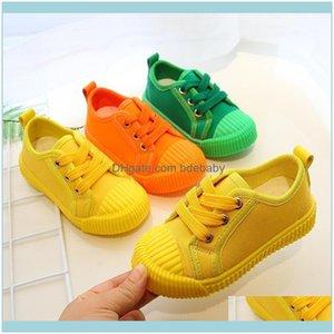 Ребенок, детские атлетики Открытый мальчики Холст Детские кроссовки для девочек Девушки Теннисные Обувь на шнуровке Детская обувь для обуви малыша желтый Chaussure Zapato CA