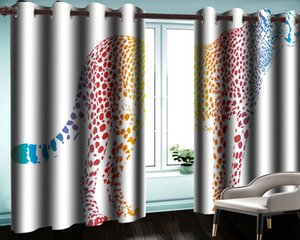 3d Animal Modern Leopard Curtain Home Improvement Living Room Bedroom Kitchen Digital Print Blackout Window Curtains