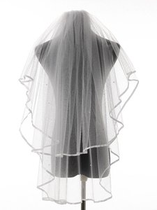 Bridal Veils Charming Real Po Ribbon Edge Two Layers Wedding Accessories Tulle Veil With Comb