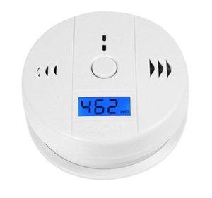 CO Karbon Monoksit Test Cihazı Alarm Uyarı Sensörü Dedektörü Gaz Yangın Zehirlenmesi Dedektörleri LCD Ekran Güvenlik Gözetleme Ev Güvenlik Alarmları