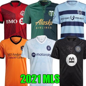 MLS 2021 2022 Toronto Soccer Jersey Sporting Kansas City 21 22 Чикаго Houston Club De Foot Montréal CF Montreal Dynamo Portland Timbers Rize Thooth Buills