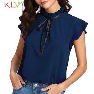 Women Blouse 2021 Chiffon Summer Office Lady Casual Tops Modis Ladies Blusas Mujer De Moda Basic Shirt 2021 Plus Size 19Feb21