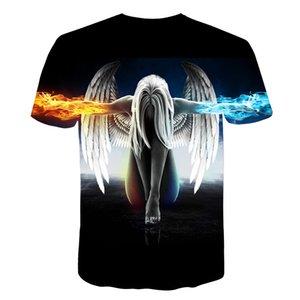 Big yards Fashion Brand T-shirt Men Women Summer 3d Tshirt Print angel T shirt Tops Teessoccer jersey
