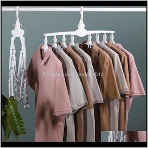 Hangers & Racks Diy Foldable Rotate Clothes Hanger Multifunction Space Saving Storage Closet Organizer Home Furniture Twmfs Jls7B