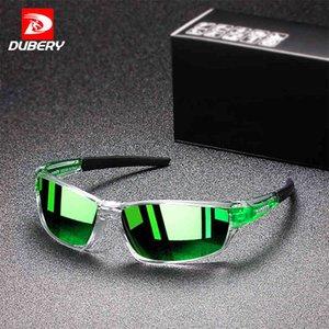 DUBERY New Retro Polarized Sunglasses Daily Leisure Travel Sports Men Sun Glasses Anti-Glare UV400 Outdoor Goggles D1