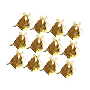 Hollow Candy Box Paper Favor Bags Treat Chocolate Holders For Muslim Eid Mubarak Party Gift Decor (Reflective Go Wrap