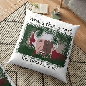 Cushion Decorative Pillow Merry Christmas Cushion Cover What Is That Sound Printed 45*45cm Pillowcase Gifts Xmas Decorative For Home