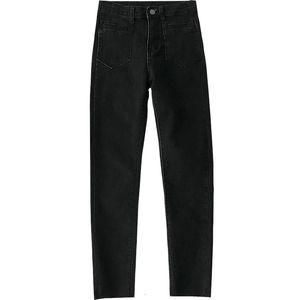 GJBD indie Women's jeans 2021 Spring Streetwear y2k Black High waist vintage trouser Classic e girl Ninth pants Skinny pants