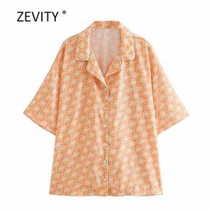 women vintage turn down collar tropical flower print casual kimono shirt ladies leisure blouse chic roupas femininas tops LS6915